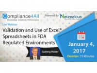 Spreadsheets in FDA Regulated Environments Web Conference by Compliance4all