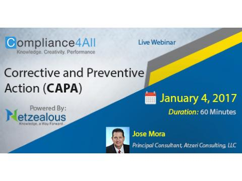 Corrective and Preventive Action Web Conference by Compliance4all