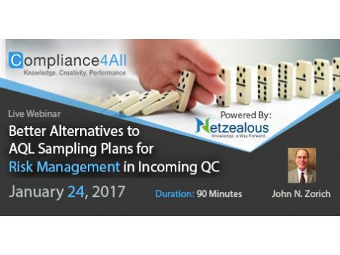 Sampling Plans for Risk Management in Incoming QC Web Conference by Compliance4all