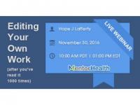Editing Your Own Work (after you've read it 1000 times) by MentorHealth