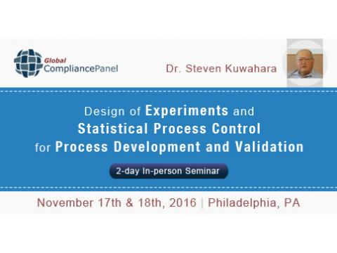 DOE and SPC for Process Development and Validation 2016