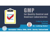 Seminar on GMP for Quality Control and Contract Laboratories