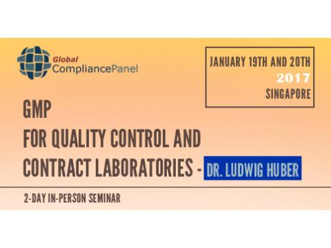 GMP requirements for quality control and contract laboratories 2017