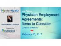 Physician Employment Agreements 2017