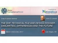 The DHF, Technical File and Design Dossier - Similarities, Differences and the Future 2017