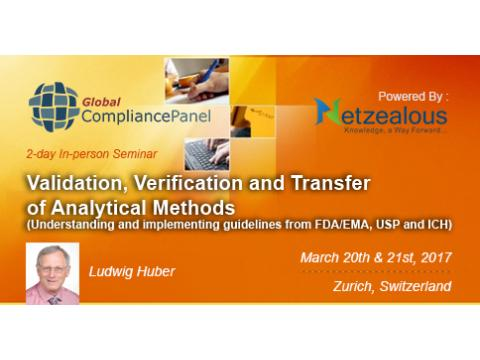 Validation, Verification and Transfer of Analytical Methods 2017