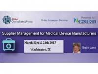 Supplier Management for Medical Device Manufacturers 2017
