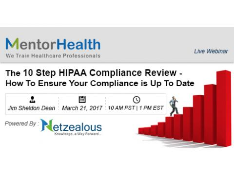 The 10 Step HIPAA Compliance Review 2017