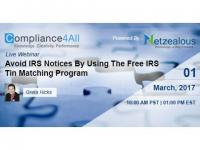 IRS Forms 1099 to use Free IRS Tin Matching Program