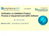 Equipment and QMS Software by Verification Process