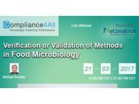 Food Microbiology Methods in Validation