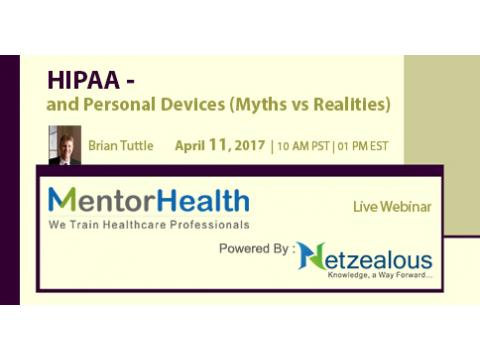 Webinar on HIPAA -and Personal Devices