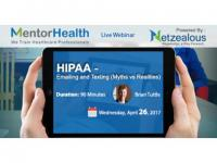 2017 Webinar on HIPAA -Emailing and Texting