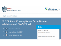 Seminar on  21 CFR Part 11 compliance for software validation and SaaS/Cloud