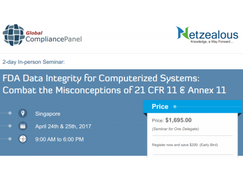 Singapore Seminar on  FDA Data Integrity for Computerized Systems