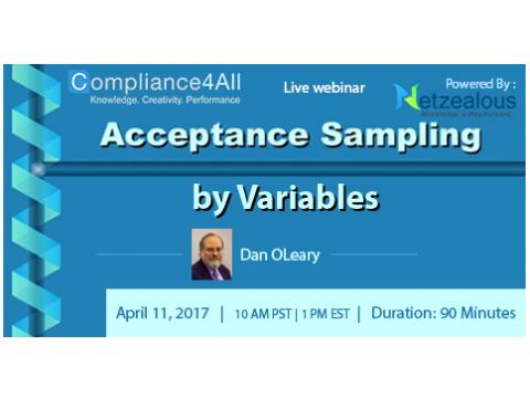 Acceptance Sampling by Variable inspections