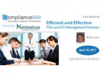 Effective FDA and ISO Management Reviews