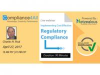 Regulatory Compliance by Implementing the Cost Effectively