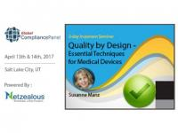 Quality by Design - Essential Techniques for Medical Devices 2017