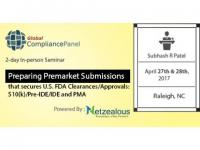 Preparing Premarket Submissions that secures U.S. FDA Clearances/Approvals 2017