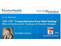 "Webinar on CMS CERT ""Comprehensive Error Rate Testing"""