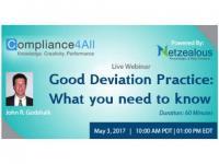 Good Deviation Practice - CAPA Process - 2017