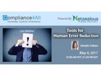 Tools for Human Error Reduction - 2017