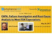 Root Cause Analysis to Meet FDA Expectations - 2017