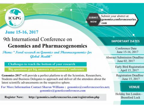 9th International Conference on Genomics & Pharmacogenomics