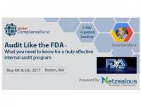 Audit Like the FDA Audit Like the FDA 2017 before 30 April 50% Discount for its All Seminars
