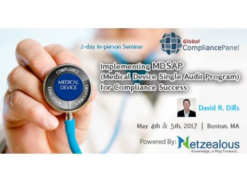 Medical Device Single Audit Program for Compliance Success (MDSAP) 2017 before 30 April 50% Discount
