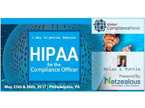 HIPAA for the Compliance Officer 2017 before 30 April 50% Discount for its All Seminars
