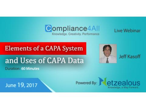 CAPA System and Uses of CAPA Data - 2017
