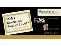 FDA offers New Import Program for 2017