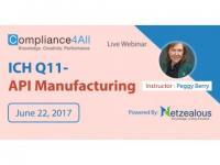 ICH Q11- API Manufacturing - 2017