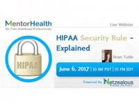 Webinar on HIPAA Security Rule - Explained