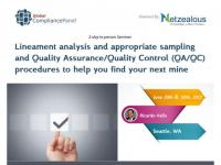 Lineament analysis and appropriate sampling and Quality Assurance/Quality Control (QA/QC)