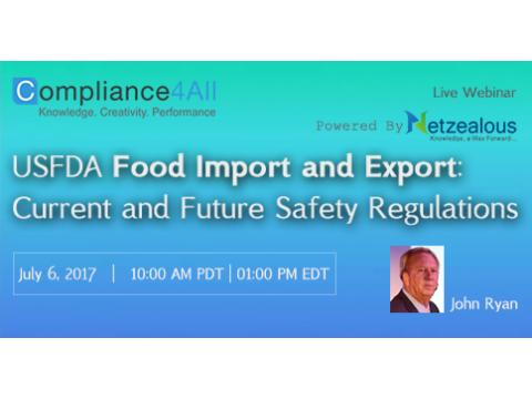 Food - Current and Future Safety Regulations - 2017