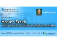 Excel - How to Create Resilient and Practical Budget Spreadsheets - 2017