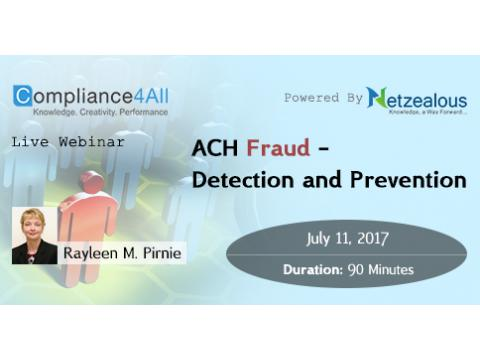 ACH Fraud - Detection and Prevention - 2017