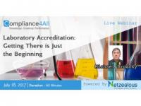 Laboratory Accreditation -Getting There is Just the Beginning - 2017