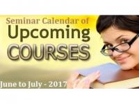 Seminar Calendar of Upcoming Courses - June to July - 2017