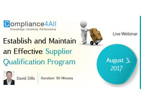 Effective Supplier Qualification Program - 2017