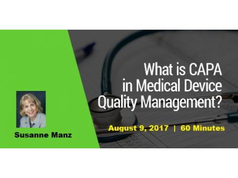 CAPA within a Device Quality System - 2017