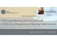 FDA Effective Regulatory & Quality Submissions 2017