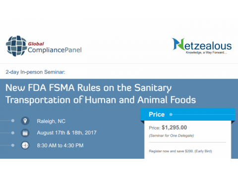 New FDA FSMA Rules on the Sanitary Transportation 2017