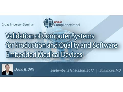 Validation of Computer Systems for Quality and Software Embedded Medical Devices 2017