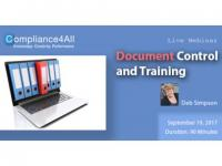Document Control and Training - 2017