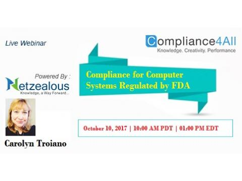 Compliance for Computer Systems Regulated by FDA - 2017
