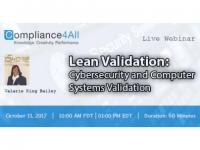 Cybersecurity and Computer Systems Validation - 2017